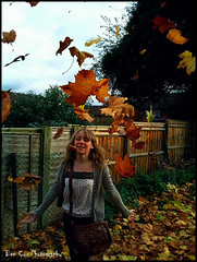 Autumn time. (Ben Cox Photography) Tags: autumn girl leaves happy leaf happiness falling
