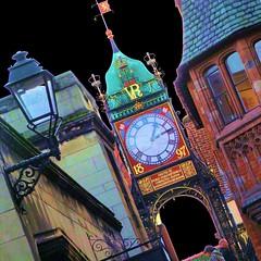 Chester clock (tina negus) Tags: urban clock diagonal chester colorphotoaward