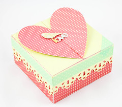 Heart Top Box (Nina (waffleflower.com)) Tags: silhouette 3d heart box crafts valentine boxes template templates octoberafternoon lifestylecrafts