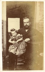 Father and daughter by Macy (c.1864) (pellethepoet) Tags: portrait man girl child father daughter photograph salisbury cdv cartedevisite macy