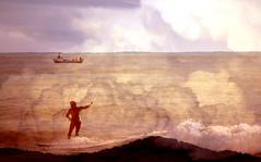 Castle In The Sky (eran hakim) Tags: ocean blue sea sky blackandwhite bw nature stone speed forest surf earth surfer wave surfing galaxy longboard planet albertcamus sisyphus capasunta