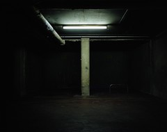 Underworld (2) (Philippe Yong) Tags: paris 120 film analog mediumformat neon kodak parking rangefinder portra400nc analogue 6x7 80mm mamiya7ii moyenformat philippeyong wwwpyphotographyfr
