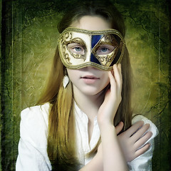 Girl with the Mask (Arunas S) Tags: portrait usa art girl face square us mask expression lithuania lietuva palanga girlwithmask contemporaryartsociety absolutegoldenmasterpiece bestportraitsaoi elitegalleryaoi truthandillusion artwithinportraits theimagecolor girlwiththemask