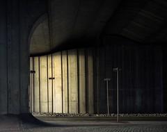 Under the northern freeway (Philippe Yong) Tags: 120 film analog mediumformat concrete fuji rangefinder freeway a1 analogue 6x7 80mm mamiya7ii moyenformat 7ii francilienne pro160ns philippeyong wwwpyphotographyfr