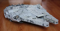 YT-1300 02 (Babalas Shipyards) Tags: scale toy star lego space millennium falcon scifi wars freighter minifigure moc correllian yt1300