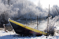 Ice Fishing (Edwin van Nuil Photography) Tags: snow ice boat fishing photowalk zwolle winterwonderland geocity exif:iso_speed=100 exif:focal_length=24mm exif:make=sony camera:make=sony geostate geocountrys exif:aperture=80 nex7 sonynex7 zeisssonnarte24mmf18za camera:model=nex7 exif:model=nex7 exif:lens=e24mmf18za