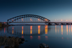 Blue Hour Bridge II (Edwin van Nuil Photography) Tags: longexposure bridge winter bluehour ijssel zwolle geocity exif:iso_speed=100 exif:focal_length=18mm sony18200mmf3563zoomlens exif:make=sony camera:make=sony geostate geocountrys exif:aperture=10 nex7 sel18200 sonynex7 camera:model=nex7 exif:model=nex7 exif:lens=e18200mmf3563oss