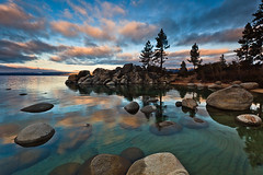 Lake Tahoe Winter Sunrise (Jeffrey Sullivan) Tags: park copyright usa moon lake nature weather set clouds sunrise canon point landscape photography harbor photo sand rocks day state cloudy nevada tahoe laketahoe full round granite february sandpoint 2010 inclinevillage sandharbor jeffsullivan 5dmarkii
