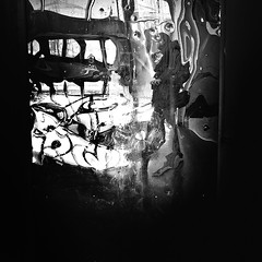 Bullets n Reflections (Jeff Krol) Tags: street camera blackandwhite bw man lines station self reflections walking square person graffiti mirror shoes fuji hand streetphotography headshot finepix reflective fujifilm groningen bullets selfie x10 jeffkrol fujix10 fujifilmfinepixx10