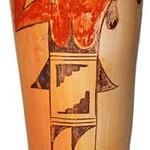 "<b>Hope/Tewa Cylindrical Jar, Polychrome</b><br/> Rena Leslie ""Hopi/Tewa Cylindrical Jar, Polychrome"" Earthenware, n.d. LFAC # 2003:12:06<a href=""//farm8.static.flickr.com/7150/6852265483_72df8b87bd_o.jpg"" title=""High res"">∝</a>"
