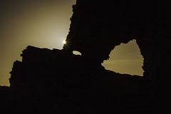 Moonlight Peeking Around the Rocks (marlin harms) Tags: fullmoon moonlight starburst lightrays