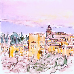"""The Granada Alhambra"" (Now Idonoa) Tags: art photoshop drawing digitalart digitalpainting alhambra granada procreate digitalwatercolor digitalartpainting nmpemulation waterlogue"