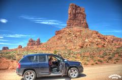 Jeep (Bill Maksim Photography) Tags: road park red hat stone photography utah crash accident wildlife roadtrip boulder mexican dirt management valley land type gods hdr maksim