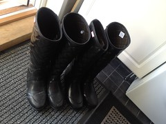 Old split wellies and new (jazka74) Tags: fun boots rubber used hunter split regent wellies savoy leaky