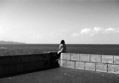 Trapani (arturo.gallia) Tags: woman donna mare alone orizzonte solitudine