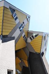 paalwoningen (parismargherita) Tags: houses netherlands yellow architecture grey rotterdam nikon blaak geometry cubes