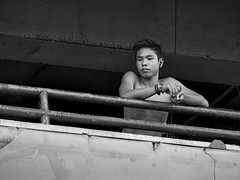 Balcony View #1 (FotoGrazio) Tags: boy shirtless portrait people blackandwhite man male art composition contrast naked nude asian photography eyes photoshoot balcony philippines smooth streetphotography handsome highcontrast streetportrait streetscene portraiture teenager filipino grayscale moment railing photographicart capture youngman pinoy digitalphotography informalportrait pacificislander sandiegophotographer artofphotography flickrelite californiaphotographer internationalphotographers worldphotographer photographersinsandiego fotograzio photographersincalifornia waynegrazio waynesgrazio