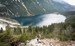 Above Morskie Oko (Molnar Gabor) Tags: people lake pool hiking glacier mount climbing loch tarn corrie tatra czarny oko staw morskie rysy d5200 rysami 1855vrii