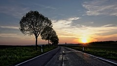 The open road (Parchman Kid (Jerry)) Tags: road street trees color home grass landscape happy evening open dancing time weekend sony going quitting friday asphault feierabend a6000 parchmankid
