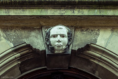 still watching you (soundmoods) Tags: old building statue facade canon 50mm eyes head denhaag plaster thehague 6d