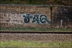 Yaq21 (Alex Ellison) Tags: graffiti boobs railway graff irp trackside northlondon yaq21