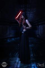 Geo Kuromi as a Female Sith by SpirosK photography: In the spaceship (SpirosK photography) Tags: portrait studio starwars cosplay sith costumeplay femalesith spiroskphotography geokuromi