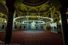 The Mosque Interior at Night (Raphael de Kadt) Tags: night contrast lights interior islam tolerance johannesburg magnificent turkish mosques midrand fijifilmxt1 fujinonxf1024mmf4ois