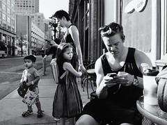 Cordova St. (. Jianwei .) Tags: street urban monochrome vancouver cellphone cordovast jianwei