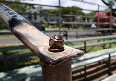 Bleachers (Forever Rambling) Tags: field bench focus baseball oahu perspective