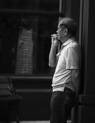 Smoker (zumponer) Tags: road street old city man canon person florida bokeh cigarette smoke streetphotography oldman smoking telephoto palmbeach f28 200mm asianman iso50 canon200mmf28 canon5dmarkii