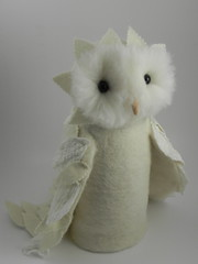 owl, done (sweet pea felts) Tags: owl handpuppet needlefelted nunofelt