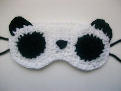 Pandy sleep mask (Mooy) Tags: bear sleeping cute animal panda mask handmade sleep crochet sleepy kawaii etsy sleepmask mooeyandfriends