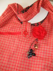 Bolsa Xadrez II (Cantinho Meu) Tags: flor moda fuxico feltro bolsa pedras tecido chaveiro aplique