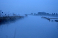 sea of fog (redglobe*) Tags: blue autumn lake nature water fog landscape nikon mnster