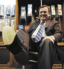 Jim Flaherty - new shoes (TBTAOTW2011) Tags: man black leather shoe dress tie jim suit mature minister finance flaherty