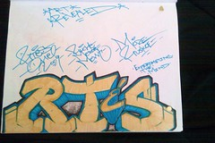Rtes One (El Funky Taladro) Tags: santa county orange black one graffiti book ana peace more rest merce mck ruche in knd mewt rtes ruskoe