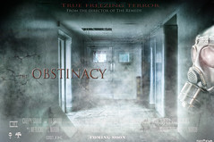 The Obstinacy (Noro8) Tags: blue light photoshop movie poster rusty style brushes horror gasmask obstinacy noro8