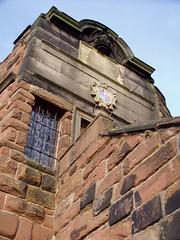 Wall tower ii Dec 2008 (DizDiz) Tags: uk england coatofarms cheshire chester december21st olympusc720uz countytown