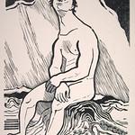 """<b>Rebellion (Auflehnung)</b><br/> Gerhard Marcks (1889-1981) """"Rebellion (Auflehnung)"""" Woodcut, n.d. LFAC #2004:07:08<a href=""""http://farm8.static.flickr.com/7151/6438622335_840f52bf97_o.jpg"""" title=""""High res"""">∝</a>"""