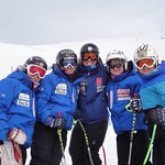 The young future of BC support old team mate Sara Freeman at DH WC at Lake Louise :