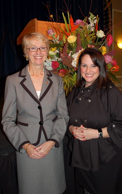 Dr. Betty Caffo with Maria Hess, the Executive Editor of Delaware Today.