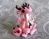 Cherry Blossom (DragonsAndBeasties) Tags: pink sculpture black cute statue cherry miniature wings branch sitting dragon blossom magic small mini polymerclay fimo fairy fantasy gift sculpey etsy custom figurine commission premo