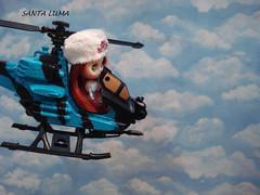 Já Nuray aderiu ao helicóptero para sua aventura!!
