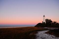 Sunrise at St.Marks (MPhotos07) Tags: morning sky lighthouse beach gulfofmexico st sunrise nikon marks trail 1855mm clearsky stmarkslighthouse d5000