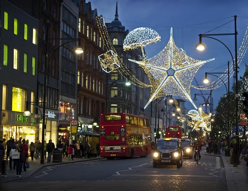 Oxford Street, London - Christmas lights