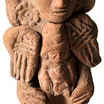 "<b>Squint-Eyed Figure with Small Lap Figures</b><br/> ""Squint-Eyed Figure with Small Lap Figures"" Ceramics, 300 BCE - 200 CE LFAC #917<a href=""//farm8.static.flickr.com/7151/6466198153_2cd34fbfa3_o.jpg"" title=""High res"">∝</a>"