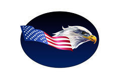 Adobe Illustrator Eagle and Flag (Grafixsalsero) Tags: