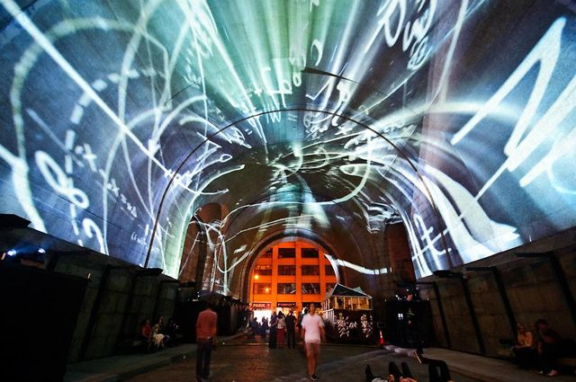 Projection on the Bridge - Immersive Surfaces - As Above, So Below on Vimeo by Light Harvest Studio - Ryan Uzi