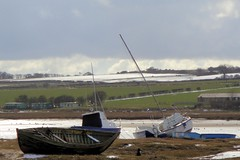 Aln Estuary, Alnmouth, Northumberland, UK (robin denton) Tags: boats wrecks oldboats abandonedboats wreckedboats