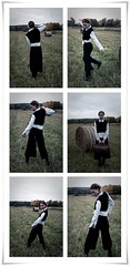 (Triangle Walks) Tags: autumn light woman blur girl vintage soft harvest naturallight retro memory fields melancholy trianglewalks